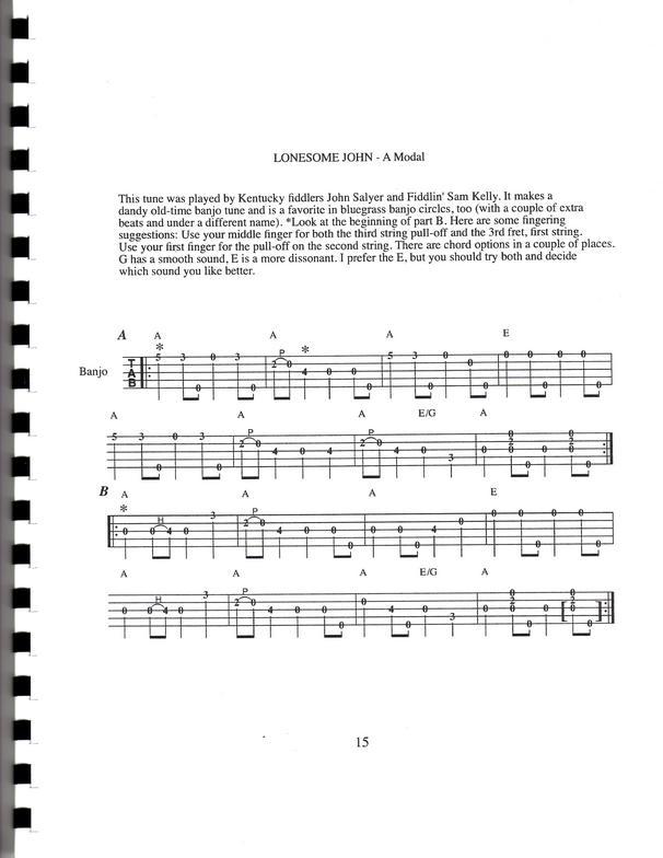 clawhammer banjo tunes tips jamming book cd set